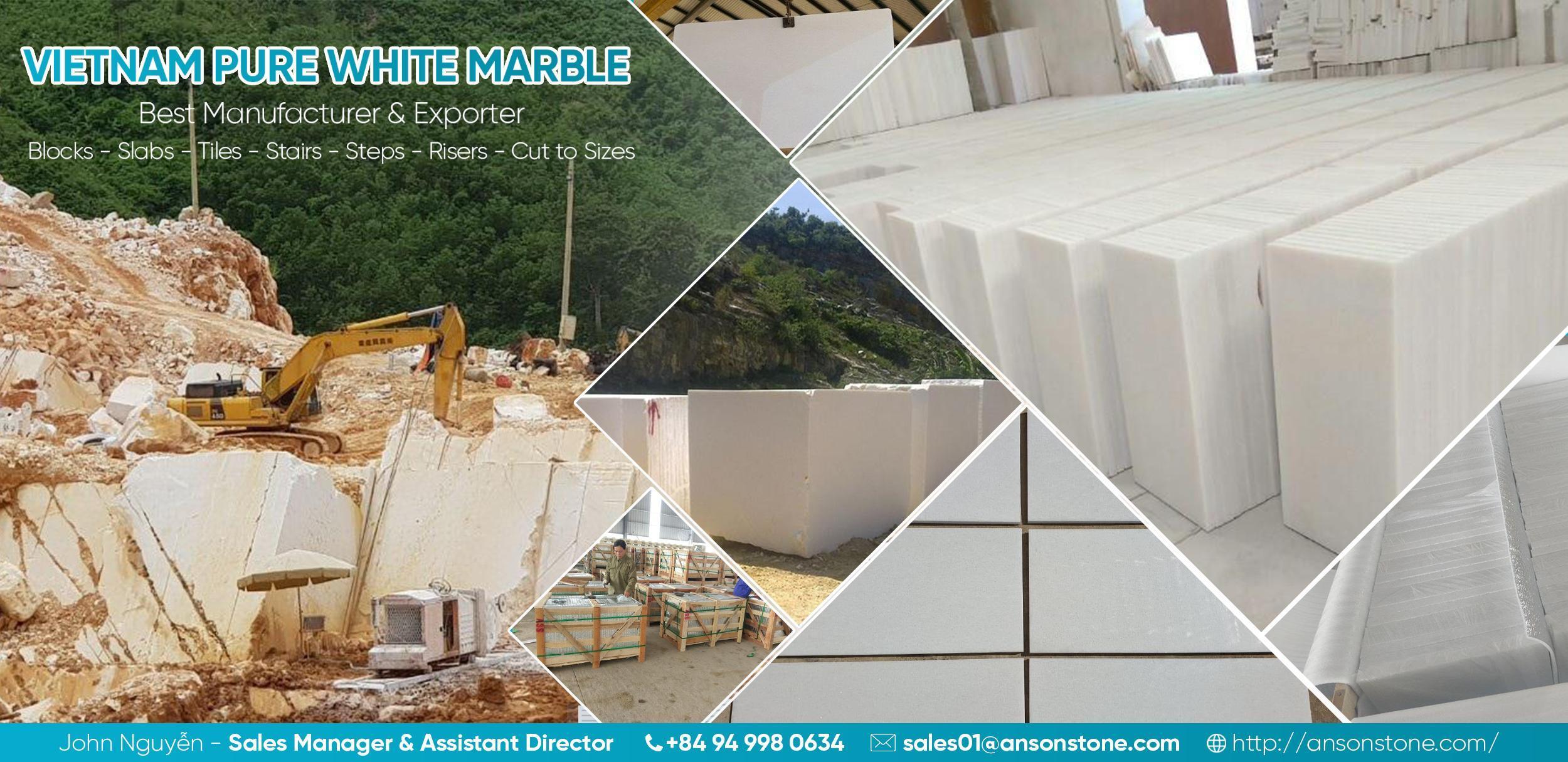 banner white marble